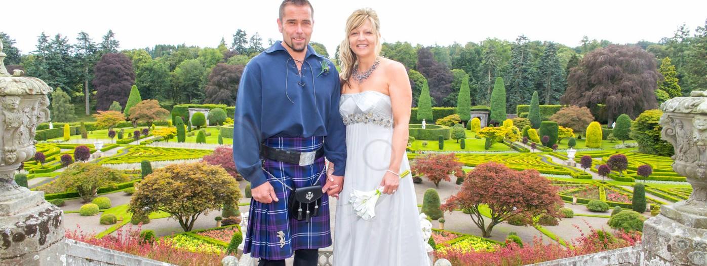 Wedding Photographers Perthshire Scotland | Drummond Gardens Wedding Photography