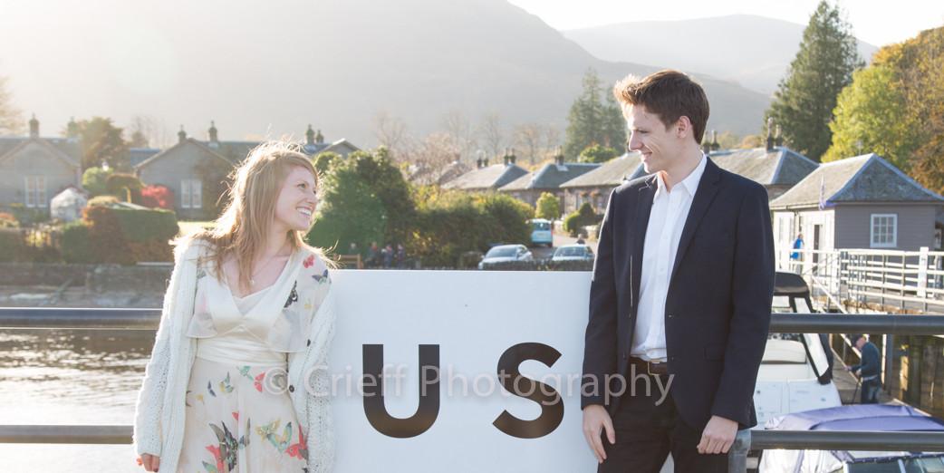 Lucy & Malte's pre-wedding 'shoot | Culag Lochside weddings| Loch Lomond wedding photography