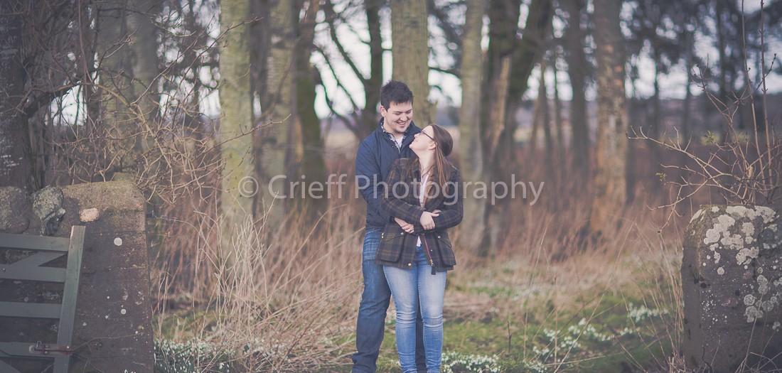 Hannah & Ross's pre-wedding shoot | Bachilton Barn wedding photos | Methven Castle wedding photos