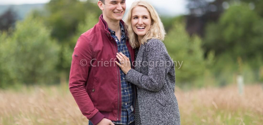 Hannah & James's pre-wedding 'shoot at Comrie Croft