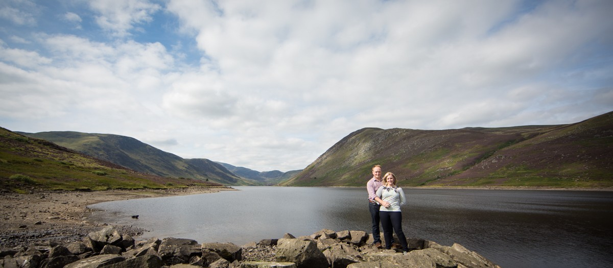 Perthshire wedding photography at Loch Turret
