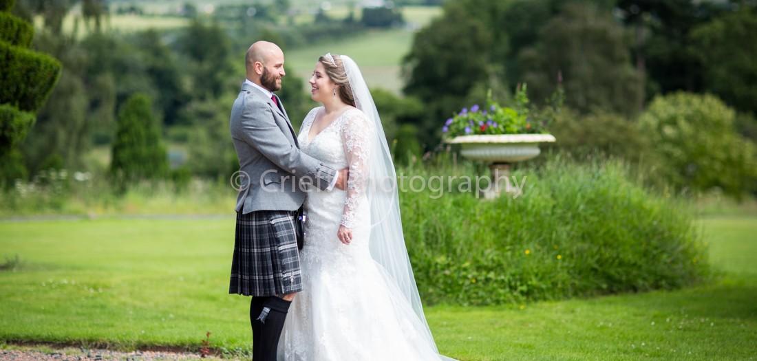 Melanie & David's wedding at Fingask Castle