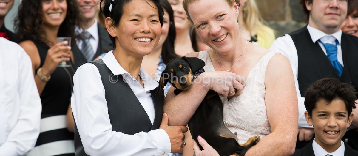 Kirsten & Orla's wedding at Comrie Croft