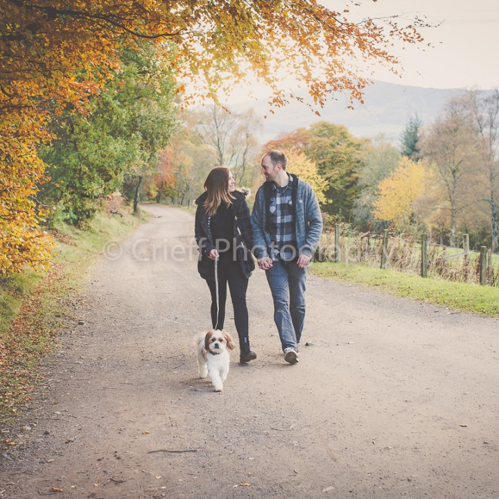 Crieff Hydro wedding photographer | Katie & Laurie pre-wedding photoshoot
